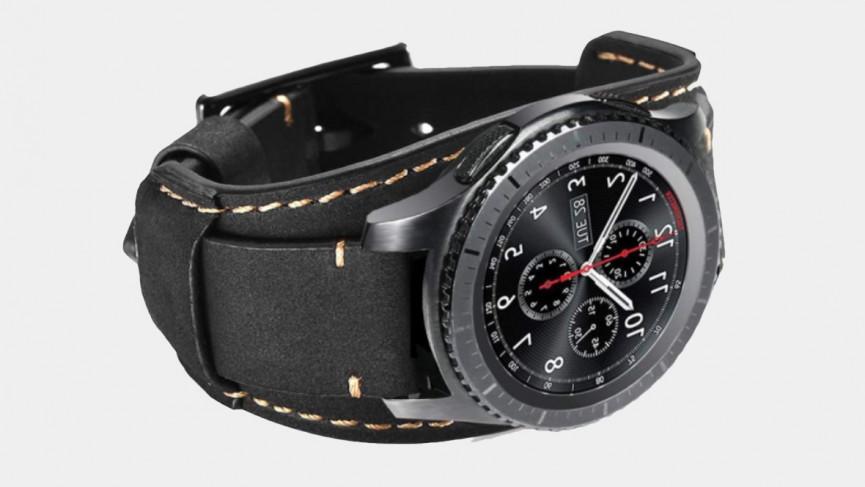 Samsung Galaxy Watch 3 41mm Correa de piel color negro