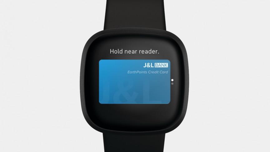 Fitbit Versa 2 que muestra la función Fitbit Pay