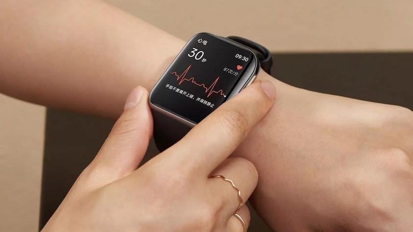 Reloj oppo con ECG