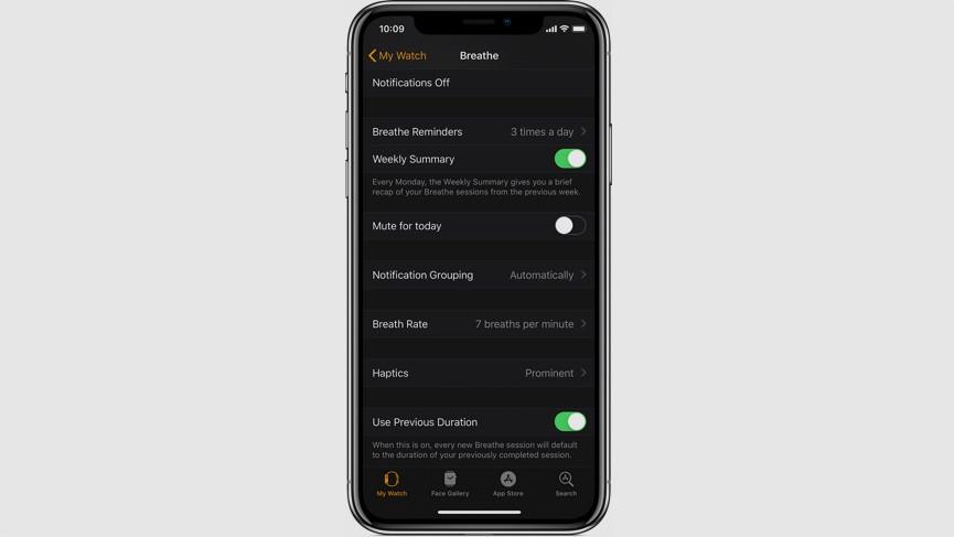 Cómo utilizar la aplicación Apple Watch Breathe