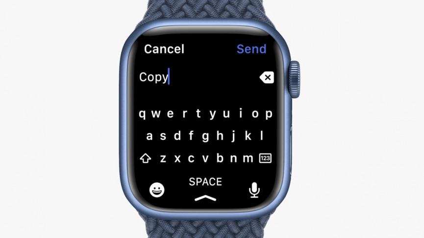 La pantalla más grande de la Serie 7 permite la entrada de texto a través de un teclado