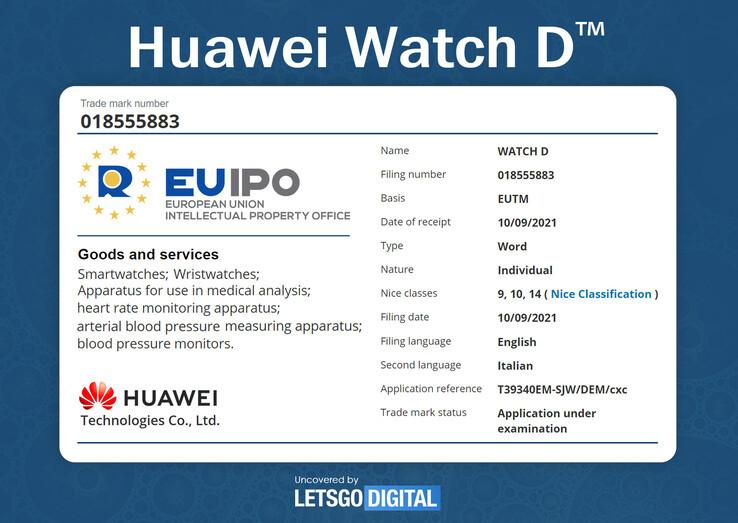 Detectan reloj de presión arterial Huawei Watch D